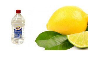 limpiar una bañera de bebé con limón y vinagre