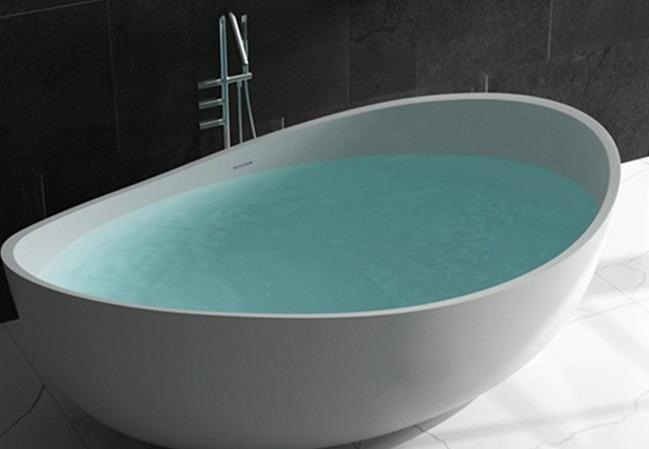 bañera ovalada