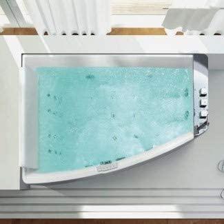Bagno Italia Bañera de hidromasaje con 30 chorros, 170 x 120 cm, versión derecha o izquierda, calentador doble bomba ozonoterapia