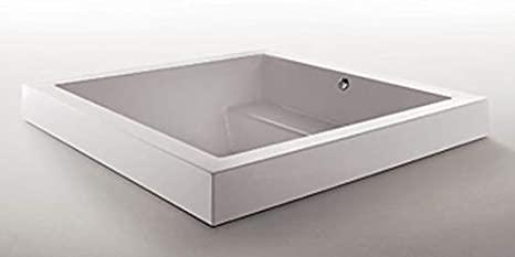 Zucchetti Kos Grande Step Quadra bañera de hidromasaje empotrada 1GEA8BI0CR-Blower+Idrocolore