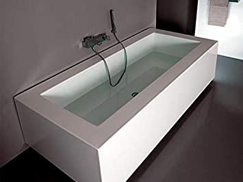 Zucchetti Kos Grande bañera de hidromasaje mural 1GRT8PBI0CRCR0P-Blower+Idrocolore