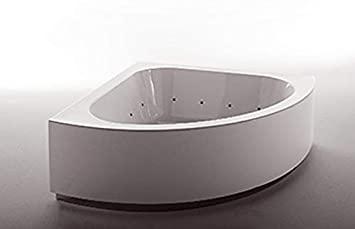 Zucchetti Kos Grande bañera de hidromasaje angular 1GST8BI0CRCR-Blower+Idrocolore