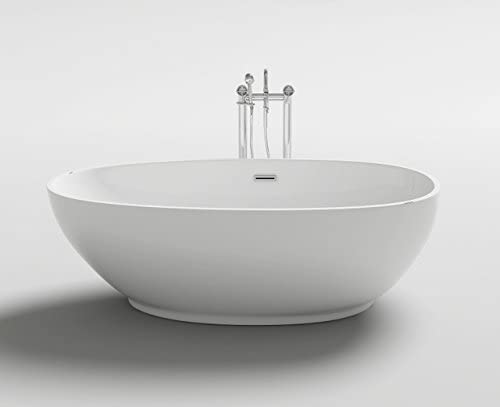 Bagno Italia Bañera de baño 180 x 90 x 58 Freestanding Centro dormitorio estilo ovalado diseño moderno