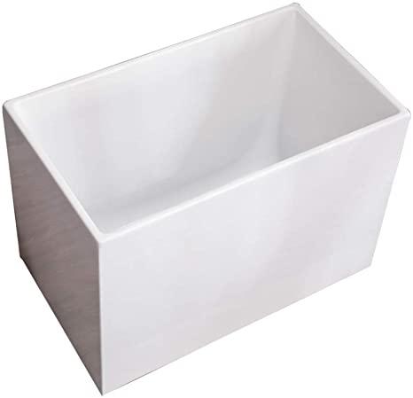 Cuadrado Bañera Sentado Sencillo en Pequeña Escala Baño Estilo Japones Mini Acrílico Tina Ingenieria/Blanco/XXL