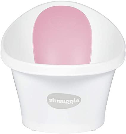 Shnuggle SBP-WPK-EUR - Bañera shnuggle blanca respaldo rosa, unisex