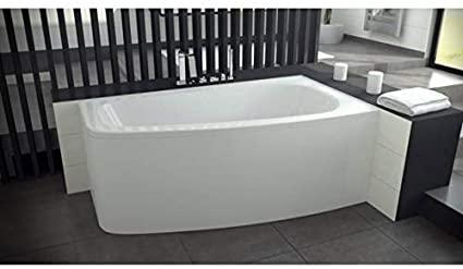 Azura Home Design - Bañera de esquina (150 cm, con delantal – orientación: derecha)