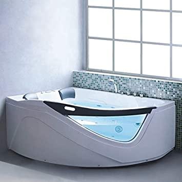 Bagno Italia Bañera angular de hidromasaje de aire y agua de 2 plazas 170 x 150 x 70 cm | 1