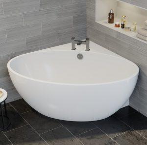 bañera esquinera