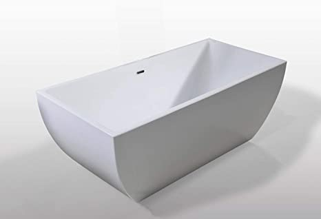 Bañera Independiente Freestanding 170x75cm Jennifer Moderna e Innovador