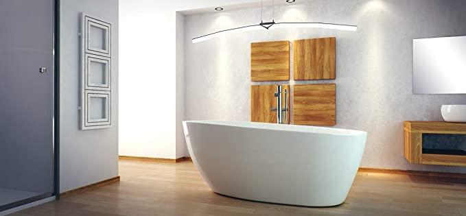 Besco Bañera exclusiva de Goya de 160 x 70 cm + desagüe Click Clack bañera de conglomerado de mármol (bañera con desagüe estándar)