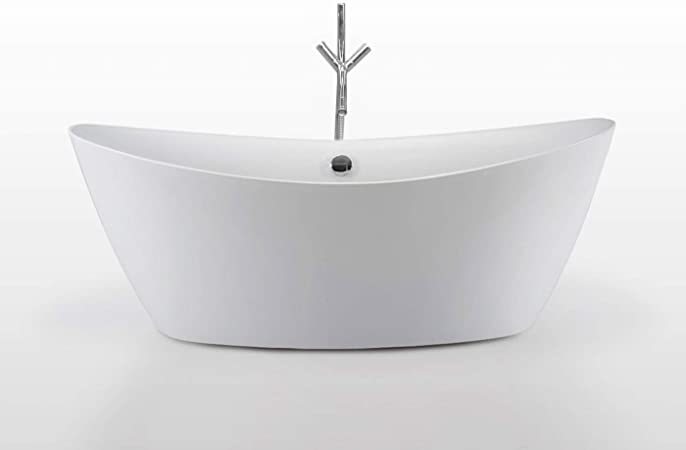 Bañera Independiente Freestanding Moderna e Innovador 180x80 cm Beverly + Grifo