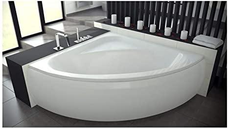Azura Home Design Venezia - Bañera angular (148 x 148 cm, con delantal