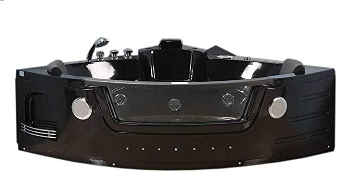 Bañera hidromasaje negra Bañera de esquina Model Majestic 140 x 140 m NUEVA spa hidromasaje Piscina MAJESTIC Terapia luz de colores