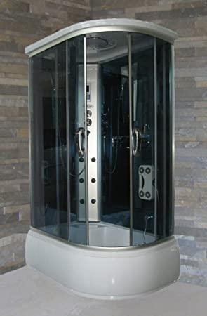 Bagno ItaliaBaúl de hidromasaje 120 x 80 cm cabina con bañera con radio teléfono baño turco aromaterapia versión izquierda I