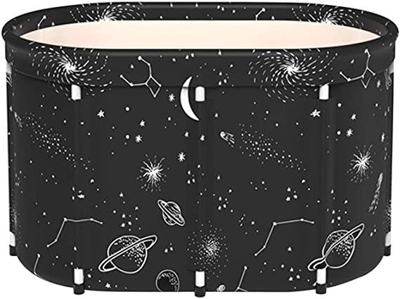SYN-GUGAI Barril de baño, Piscina, bañera Plegable Bañera portátil para Adultos para Adultos Bañera de plástico Grande Plegable Bañera de plástico Grande para Adultos para Ducha,80cm