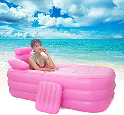 Jasemy - Bañera hinchable para interior y exterior, hinchable, para viajes, piscinas hinchables