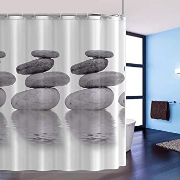 htovila Cortina de Baño, Cortina Ducha, con 12 Ganchos de Plástico, Impermeable Anticorrosión Antibacteriano180*180cm