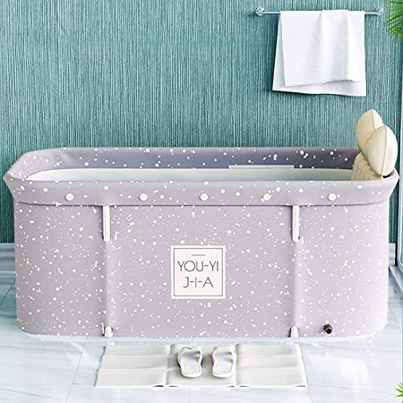 Bañera plegable para adultos, 120 cm, portátil, no inflable - Bañera de PVC/SPA que se sostiene de pie, para el hogar, de plástico grueso, ideal para baño y sauna de vapor