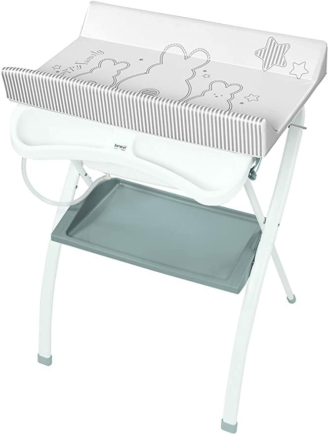 Brevi Lindo Pro 568-667 - Bañera cambiador plegable, color blanco conejo, colección 2020