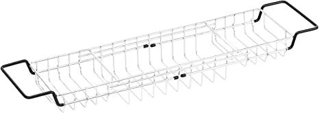 AmazonBasics - Bandeja de alambre de almacenamiento para bañera