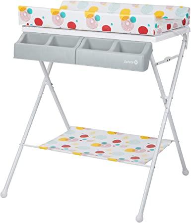 Safety 1st Baltic - Mesa para guardar/bañera 2 en 1 para bebé, plegada compacta desde el nacimiento hasta los 12 meses hasta 11 kg, Isla Bonita 1 unidad