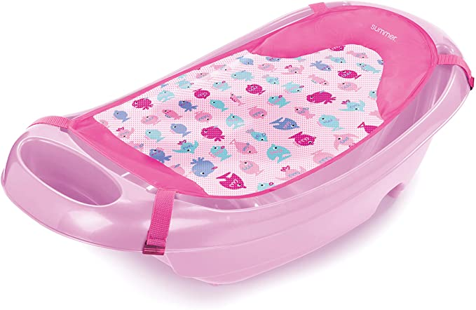 Summer Infant Summer Splish 'N Splash - Bañera para recién nacido a bebé, color rosa