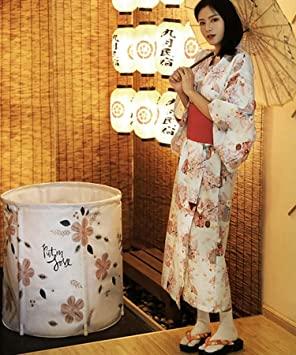 Wghz Bañera de Estilo japonés Bañeras portátiles para Adultos Cubo de baño Plegable para el hogar Bañeras de SPA de Gran tamaño Baño de Agua Caliente para días fríos Bañeras de Hielo Caliente par